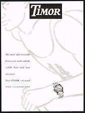 1940's Vintage 1949 Timor Wrist Watch Runner Running Mid Century Art Print AD