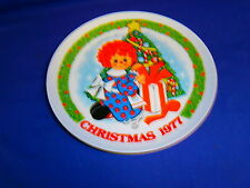 Vintage Raggedy Ann Christmas 1977 Collectors Plate by Schmid