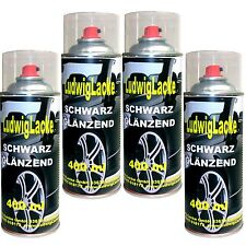 Schwarz glänzend  WOW 4 Spraydosen  AUTOLAC je 400ml Ludwiglacke FreiHaus