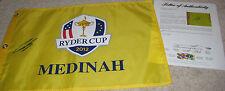 NICOLAS COLSAERTS (PGA) signed 2012 RYDER CUP pin flag with PSA LOA