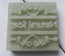 """Natural Soap"" Handmade  Resin Soap Stamp Seal Soap Mold Mould 1.57""x1.38"" YZ"