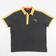 PUMA Polo Shirt Gray and Yellow Mens Size XL