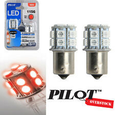 Pilot Automotive 1156 RED LED Light Bulbs pack of 2 - US SELLER FAST SHIPPING