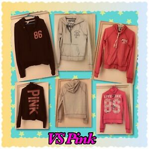 VS Pink Hoodies HTF Pre-Owned No Holes Lot Of 3 All Size M  No Pets Non Smoking