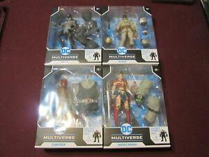 McFarlane Toys DC Collector Multiverse Wave 3 Bane BAF Complete Set of 4 (NEW)