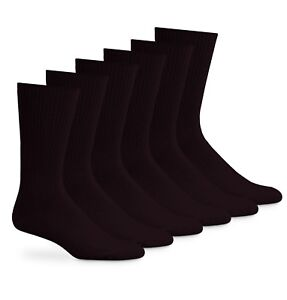 Jefferies Socks Mens Acrylic Classic Crew Rib Dress Socks 6 Pair Pack