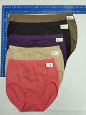 8 Ellen Tracy Soft stretch Women's Panties Underwear plus Size 8-28 full Briefs