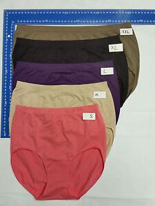 8 Ellen Tracy Soft stretch Women's Panties Underwear plus Size 8-28 full Briefs