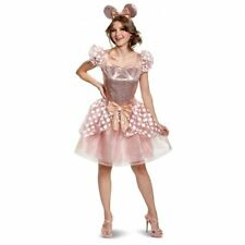 Disguise Minnie Mouse Rose Gold Dress Deluxe Adult Halloween Costume 103099