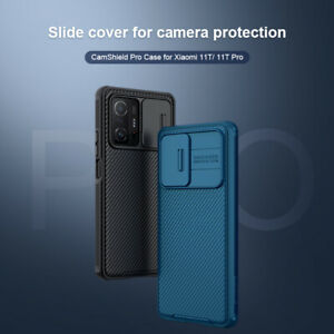For Xiaomi 11T /Pro Case Nillkin Slide Camera TPU +PC Back Lens Protection Cover