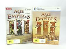Age of Empires III 3 + The War Chiefs Expansion Pack. Microsoft PC Games.