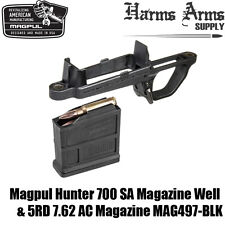 MAGPUL HUNTER 700 Magazine Mag Well & 7.62 AC Mag AICS Remington SA MAG497-BLK