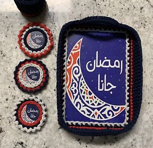 Ramadan Tray With Coasters And Storage