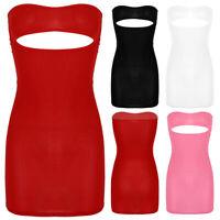 Figurformendes Frauen busenfreier Minikleid durchsichtig Trägerlos Unterkleid