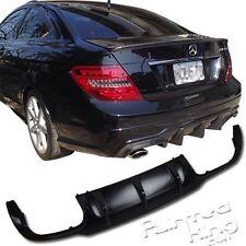 """""""STOCK IN LA Unpaint Mercedes-Benz W204 C204 2D 4D C63AMG Rear Bumper Diffuser"""