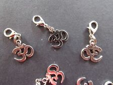 OHM OM AUM YOGA MEDITATION charm clip on lobster clasp for charm bracelets