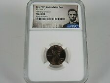2019 W Uncirculated  Lincoln Cent,  NGC Ms 69 Rd,  First Day of Issue, Pop=2645