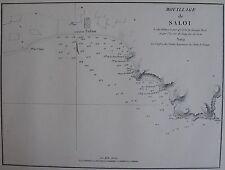 MOUILLAGE DE SALOU ,1862, GAUTTIER, PLANS PORTS RADES MER MEDITERRANEE
