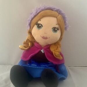"""Anna Disney Frozen Ragdoll 12"""" Beanie Middle Soft Toy"""