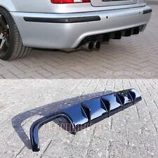 BMW E39 98 - 03 M SPORT REAR DIFFUSOR SPLITTER BUMPER MTECH BLACKGLOSS