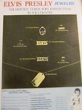 Elvis Presley, Jewelry, Full Page Vintage Promotional Print Ad