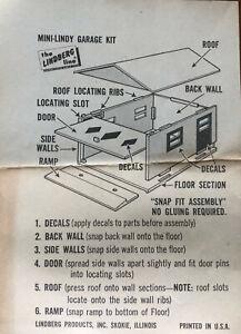 Mini Lindy Garage Kit, 4 Kits Vintage 1960s, Kellogg's Corn FlakesPremiums,New.