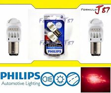 Philips Vision LED Bulb 1157 Rouge Red Turn Signal Tail Side Marker Stop Upgrade