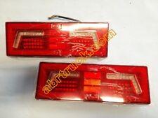 2 X COPPIA FANALE POST LED UNIVERSALE CAMION TRUCK 12 24 VOLT CABLAGGIO FILI