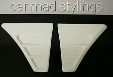 Ford Focus RS MK2 Style White Plastic Side Bonnet Vents/Scoop/Air Intake/wing