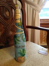 Decoupage Bottle Of Wine With Coconut