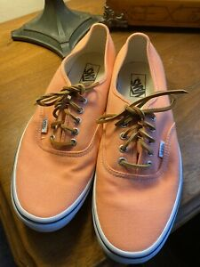 New Mens 12 Pink Vans Off The Wall Canvas Leather Laces casual skate preppy
