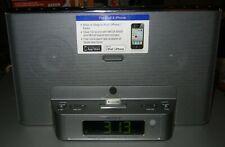 Sony Black iPhone Clock Radio Speaker Dock Dream Machine Icf-Cs15iP Spectacular!