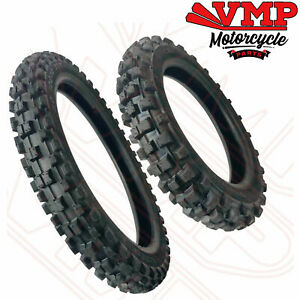New Yamaha PW80 PY80 Front and Rear Tyres Pair Set  60/100-14 + 80/100-12