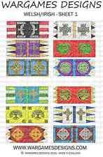 15mm Dark Ages Welsh/Irish Banners - Sheet 1 FOG, DBA, Hail Caesar, Impetus