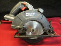 """PORTER CABLE 18V,6-1/2"""" Cordless Circular Saw PC186CS - Works Great"""