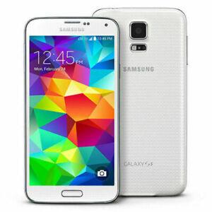 Samsung Galaxy S5 SM-G900 4G LTE GSM Unlocked 16GB Original OLED White  A+