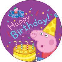 Peppa Pig Wutz Eßbar Tortenaufleger Party Deko Tortenbild Muffin Geburtstag Neu