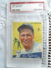 1934 Goudey Lou Gehrig #37 PSA RATED 5!!!!