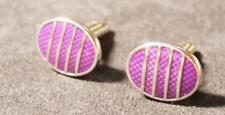 Oval Cufflinks Vintage Purple