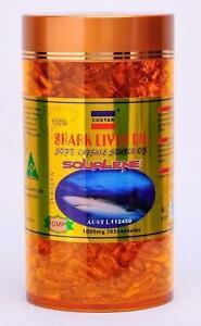 Costar Shark Liver Oil 1000mg 365 Capsules Australian Made