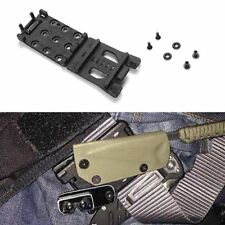 Tactical Waist Clip Knife Sheath Scabbard Practical Belt Clamp Kydex Kit Hunting