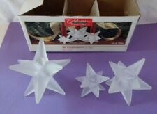 Christmas Star glass candleholders set of 3 vintage