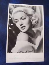 Lana Turner  -  Autograph 5.5 x 3.5 inches (code BC1)