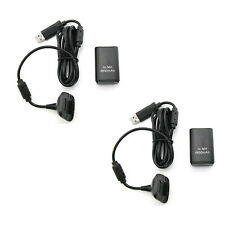 New Xbox 360 - BLACK Play and Plug Charge Pack w Rechargeable Battery X2 (Hexir)