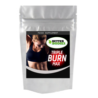 Triple Burn Max Strength Diet Pills Strong Fast Weight Loss Capsules Fat Burners