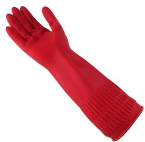 Large Washing Up Dish Latex Rubber Kitchen Cleaning Long Sleeve Gloves