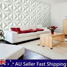 12 Pcs Set 3D Diamond Wall Panel EcoFriendly Paintable Home Background