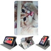 Tablet Tasche für Samsung Galaxy Tab A 2016 T580  Etui Katze 2 10.1 Zoll 360
