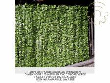 siepe artificiale Evergreen a foglia lunga sintetica 1 x 3 mt arella artificiale
