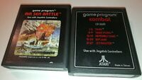 Atari 2600 Air Sea Battle (1981) & Combat With Text Label (1977) Free Shipping